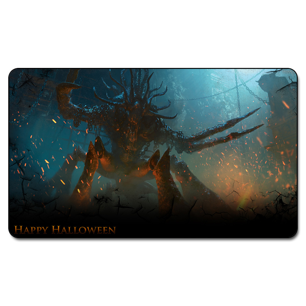 Many Playmat Choice CRYPTBORN HORROR PLAYMAT MGT Board Games Play Mat Magic Card Games Table Pad with Free Gift Bag
