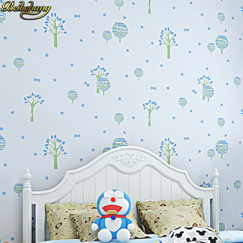 beibehang Small fresh tree mural Wallpaper For Walls Decor 3D Wall paper Rolls Bedroom Living room Sofa TV Background stickers shinehome black white cartoon car frames photo wallpaper 3d for kids room roll livingroom background murals rolls wall paper