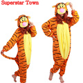 Saltar tigger traje adulto onesie pijamas cosplay fancy dress cosplay mono onesies mameluco superestrella ciudad