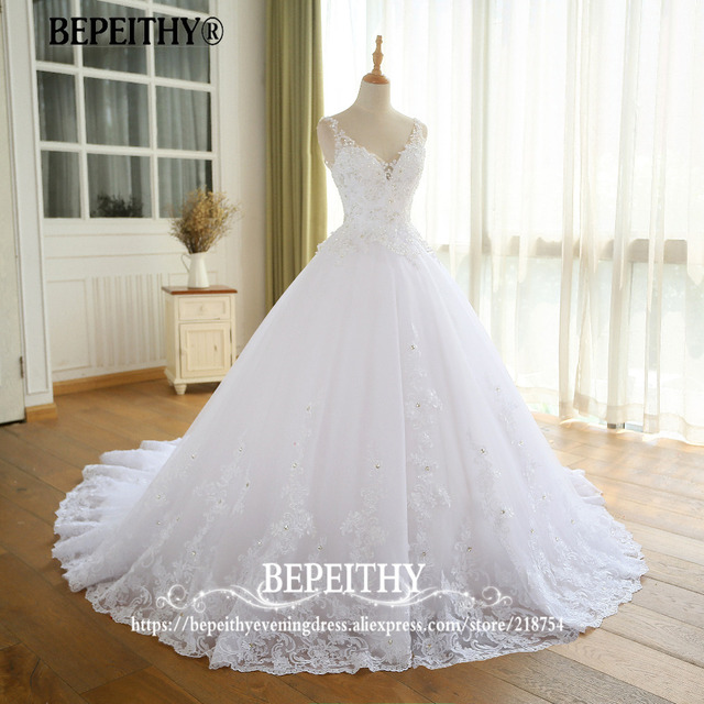 Lindo vestido de noiva vestido de baile com renda vestido de novia princesa vestidos de casamento do vintage imagem real vestido de noiva 2021 4
