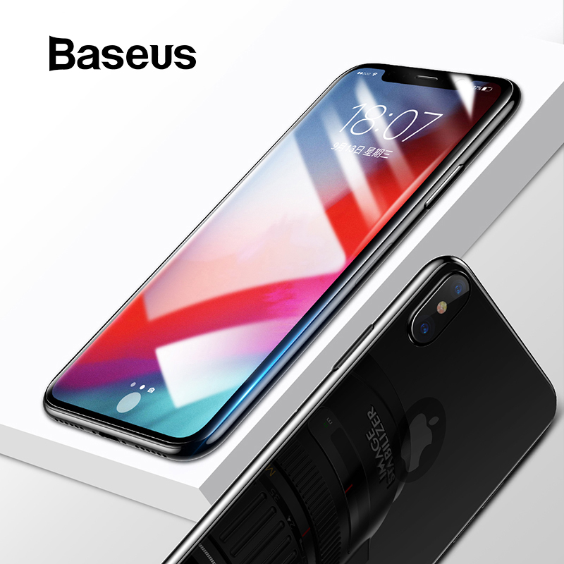 Baseus Front Screen Protector + Back Tempered Glass For