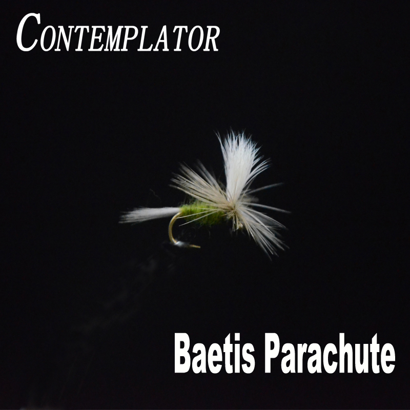 CONTEMPLATOR 6pcs/box 14# Baetis Parachute olive body dry flies bait simulating baetises hatches surface water fly fishing lures