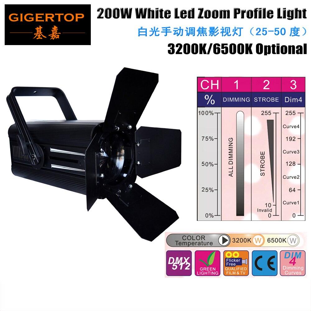 TIPTOP Stage Light 200W White COB Pin Spot Stage Lights Colour Changing Disco DJ Light up Wedding Part Manual Beam 25-50 Degree