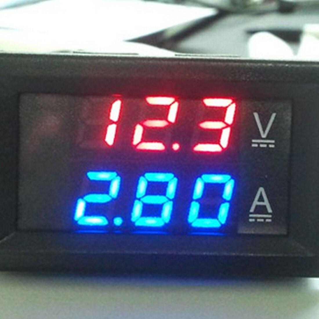 Mini voltmètre numérique ampèremètre DC 100V 10A panneau ampèremètre tension testeur de courant 0.56