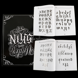 Image 1 - A4 Chicano Calligraphy Font Lettering Tattoo Book Writing Design Pattern Template Design Tattoo Flash Book (78 Pages)