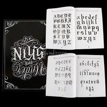 A4 chicano caligrafia fonte rotulação tatuagem livro escrita design padrão modelo design tatuagem flash livro (78 páginas)