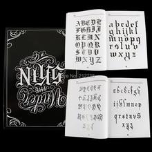 A4 המקסיקנית קליגרפיה גופן אותיות קעקוע ספר כתיבת עיצוב דפוס תבנית עיצוב קעקוע Flash ספר (78 דפים)