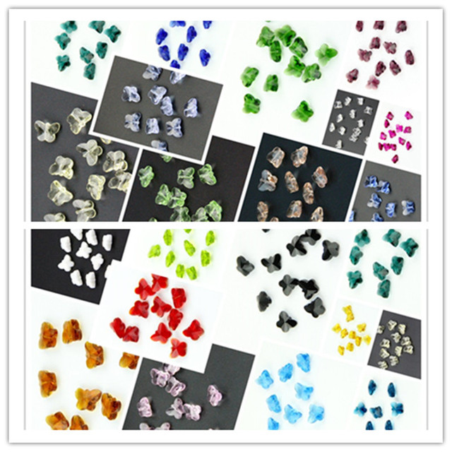 Many Colors 2000pcs 14mm Crystal Butterfly Beads Middle Hole Garland Chandelier Beads Hanging Pendant Lamp Light Parts