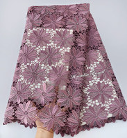 Big heavy pure onion African Guipure lace very neat embroidery Nigerian cord lace fabric with strong stones high quality 5 yards