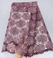 Grote zware pure ui Afrikaanse guipurekant zeer nette borduurwerk Nigeriaanse koord kant stof met sterke stenen hoge kwaliteit 5 yards