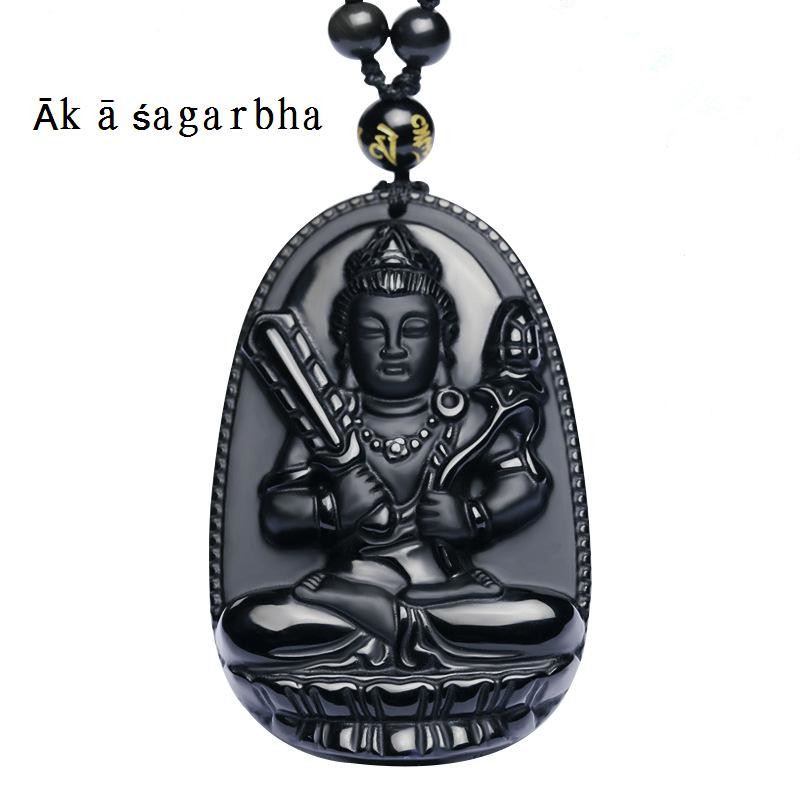 High Quality Unique Natural Black Obsidian Carved Buddha Lucky Amulet Pendant Necklace For Women Men pendants Gift Jewelry Gift