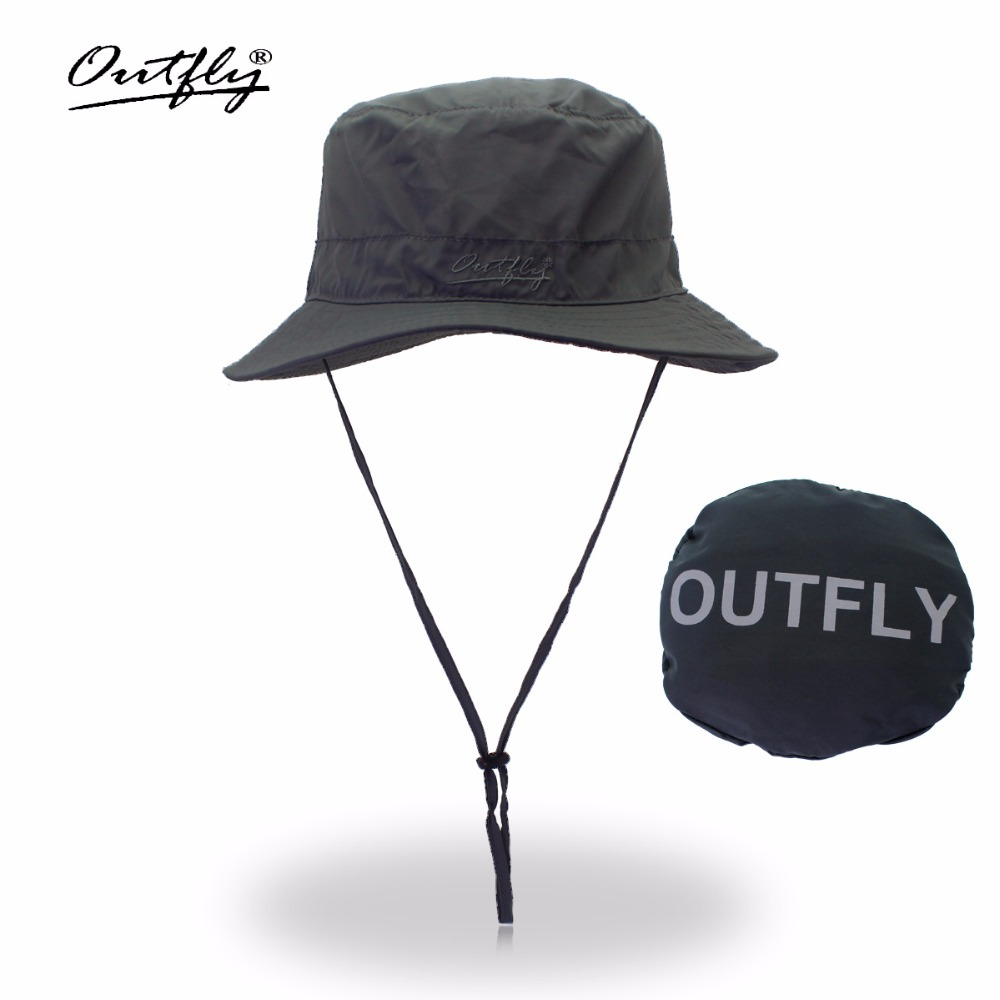 Letter  Embroidery Bucket Hat Fisherman Hats Outdoor quick dry fisherman hat summer sun hat men  women