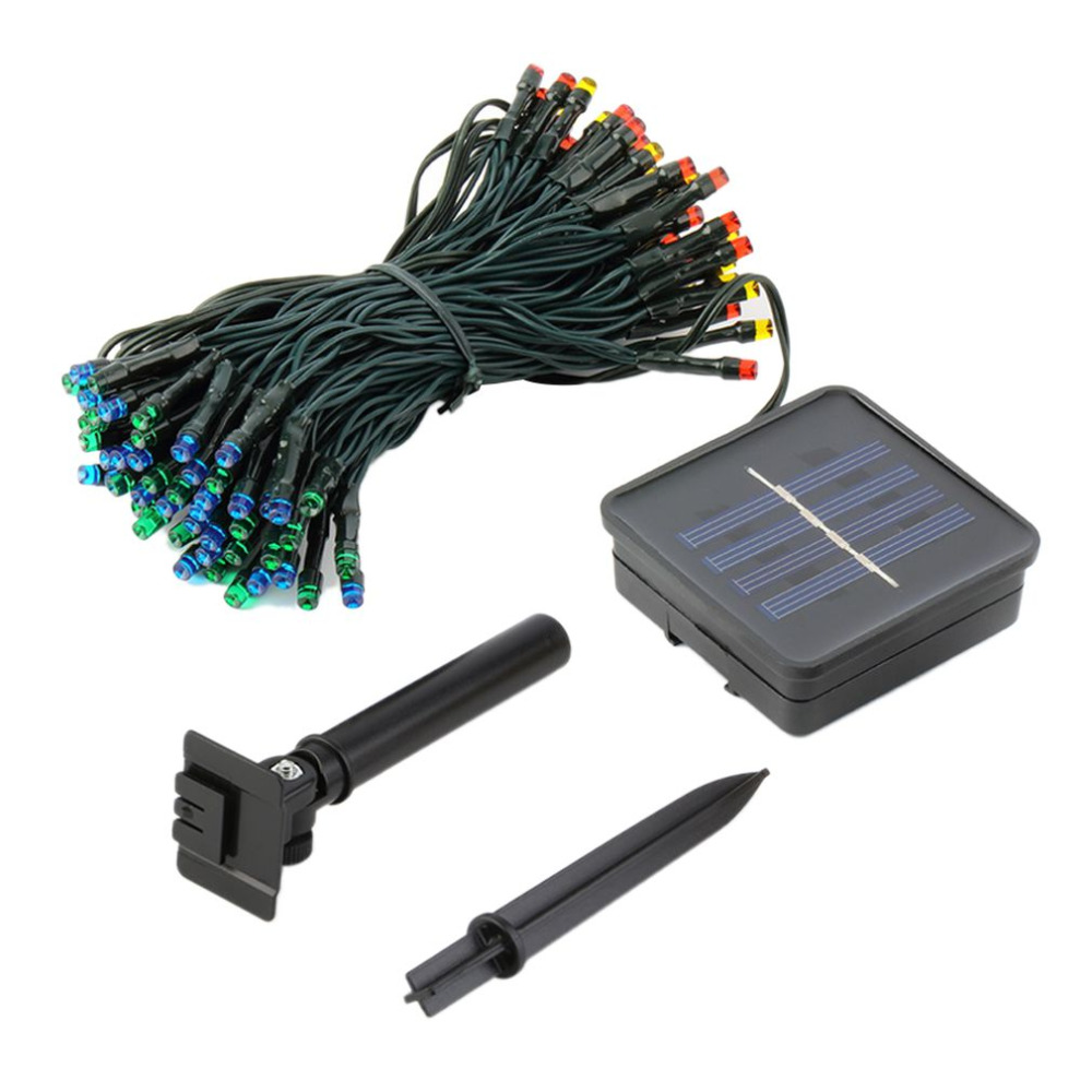 15 mt 100LED IP68 <font><b>Solar</b></font> <font><b>Powered</b></font> <font><b>LED</b></font> String Leuchtet Stetig/Flash Modi Wasserdicht Weihnachten Festival Party Fee Beleuchtung Saiten image