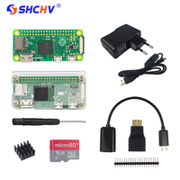 Raspberry Pi Zero W Starter Kit 5MP Camera Official Case Heat Sink GPIO Header For Raspberry