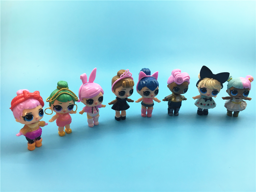 8pcs LoL Doll Unpacking High-quality Dolls Baby Tear Open Color Change Egg LoL Doll Action Figure Toys Kids Gift Sister