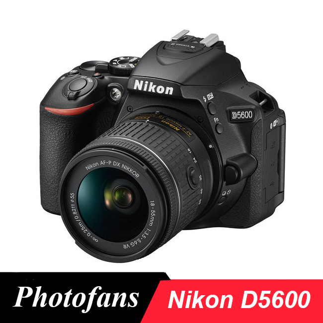 Nikon  D5600 DSLR Camera with 18-55mm AF-P VR Lens (2016 New Release) nikon d5600 dslr camera 24 2mp full hd 1080p wi fi bluetooth 2016 new release