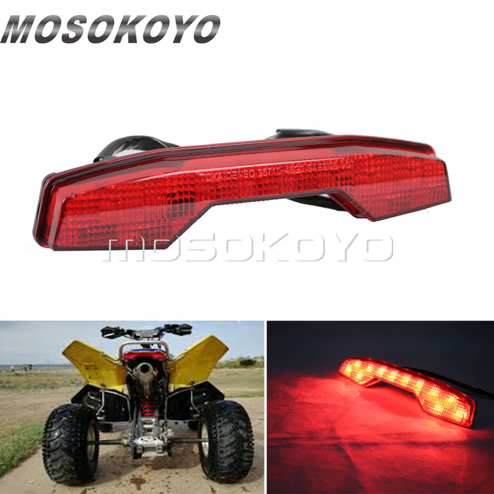 ATV Quadsport Red LED Taillights Brake Stop Light LED Rear Lamp For Suzuki LTR400  LTR450  LTR 400/450 All Year