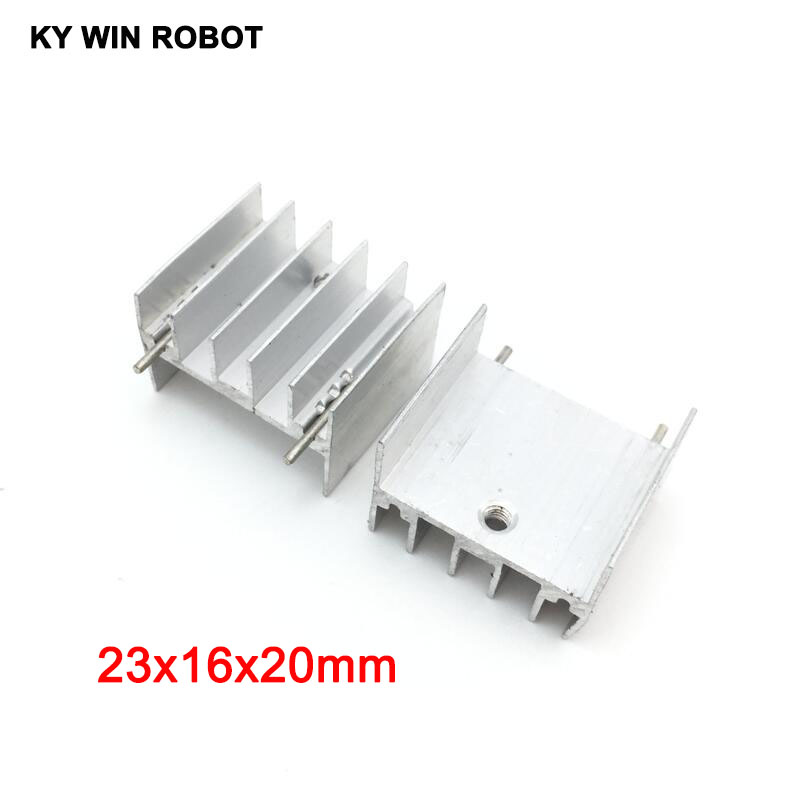10pcs White Aluminium TO-220 23x16x20mm Heatsink TO 220 Heat Sink Transistor Radiator TO220 Cooler Cooling 23*16*20MM With 2pin