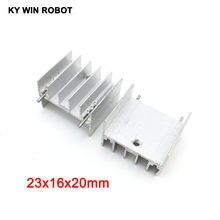 10 pcs branco TO-220 23x16x20mm Dissipador de Calor de Alumínio PARA 220 TO220 Transistor do Dissipador de Calor Do Radiador Refrigerador ventilador de refrigeração 23*16*20 MM Com 2pin