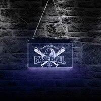 Baseball Team Logo LED Neon Sign Baseball Custom Team Name Living Room Sports Lighting Decor Personalized Baseball Hanging Sign