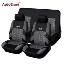 AUTOYOUTH pokrowce na siedzenia pojazdy obsługuje zestaw pokrowców na siedzenia samochodowe pokrowce na siedzenia samochodowe pokrowiec na fotel samochodowy dla Lada TOYOTA Corolla bmw e46 tanie tanio Cztery pory roku Poliester 46 46cm Pokrowce i podpory 0 9kg 22 05cm Front Seat Covers Car Seat Cover Universal 118 x 56 cm