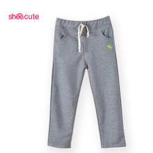 New fashion kids Harem Pants Harem Pants for children kids boys girls Casual Sports Pants baby boys leisure pants cheap Elastic Waist Loose sheecute SCYD-1101 Embroidery Sashes Fits true to size take your normal size Unisex cartoon COTTON