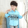 New Arrival 2017 Turn-down Collar Full Sleeve Casual Kids Hot Sales Blouse letter Slim Fit Chemise Kids Childhood Shirts