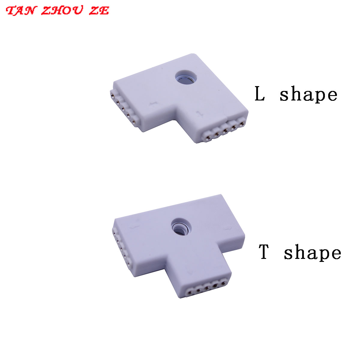 5pcs 12mm 5 PIN RGBW L Shape / X Shape / T Shape No Soldering Connector Injection Joint For 5050 RGBW /RGBWW LED Strip 5PIN RGBW