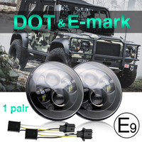 CO LIGHT 7 Round Led Headlights Cree Chips Hign Low 6000K Daytime Running Lights For Jeep