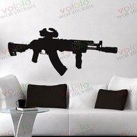 משלוח חינם חומר סיטונאי וקמעוני וול דקור pvc מדבקות קיר מדבקות טפט ציור קיר מלחמת נשק אקדח Q-41