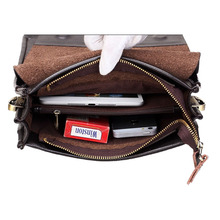 Men's Crossbody Bags Quality Male Messenger Bag on over His Shoulder PU