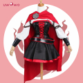 Rwby ruby rose cosplay 3 season red dress capa uniforme de batalla uwowo traje 2017 nuevo!