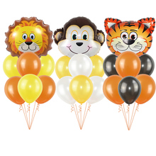11pcs/set Jungle Animal Party Supplies Balloons Birthday Decorations kids Favors