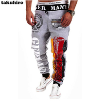 casual harem letter print 3D pants men pantalons chandal homme hombre pants sweatpants jogger pants men's factory OEM customize