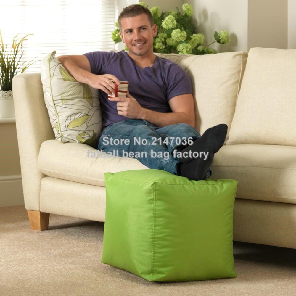 bean bag ottoman pouf ottoman square ottoman, waterproof sofa chairs