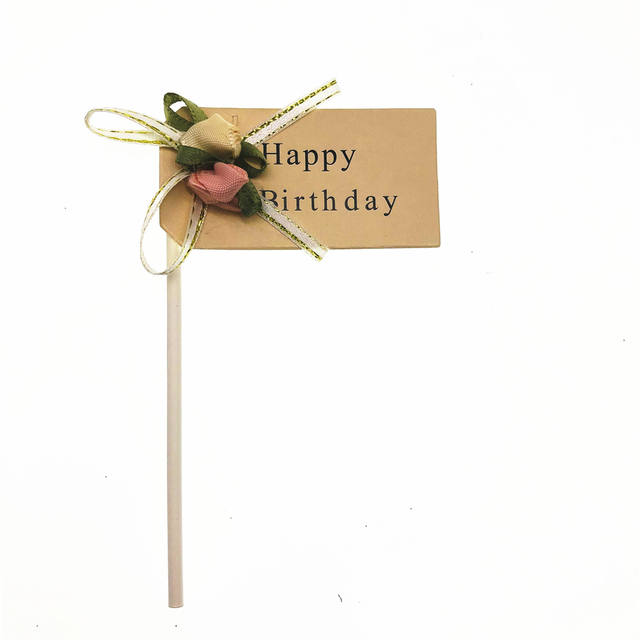Handmade Birthday Cupcake Toppers