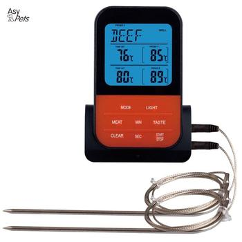 AsyPets Wireless Waterproof BBQ Thermometer Digital Cooking Meat Food Oven Grilling Thermometer With Timer Function