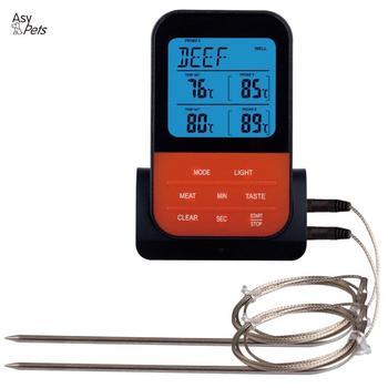 AsyPets bezprzewodowy wodoodporny termometr do grillowania cyfrowy gotowanie mięso jedzenie piekarnik grillowanie termometr z funkcją timera tanie i dobre opinie CN (pochodzenie) BBQ thermometer Termometry kuchenne Gospodarstw domowych termometry Z tworzywa sztucznego Resistance temperature measurement