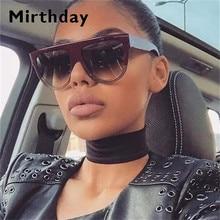 Black Oversized Sunglasses Women Retro Vintage Gradient Brown Big Frame For Wome