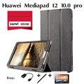 Для Huawei Mediapad T2 pro 10.0 таблетки тридцать процентов 10.1 7-дюймовый кобура Тонкий Кастер 3-Fold Фолио PU Кожаный Чехол Флип крышка