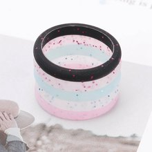 1Pcs New LGBT Rings Silicone Gay Pride Homosexual Flexible Couple Ring Wedding Engagement Jewelry Environmental Silicone Female(China)