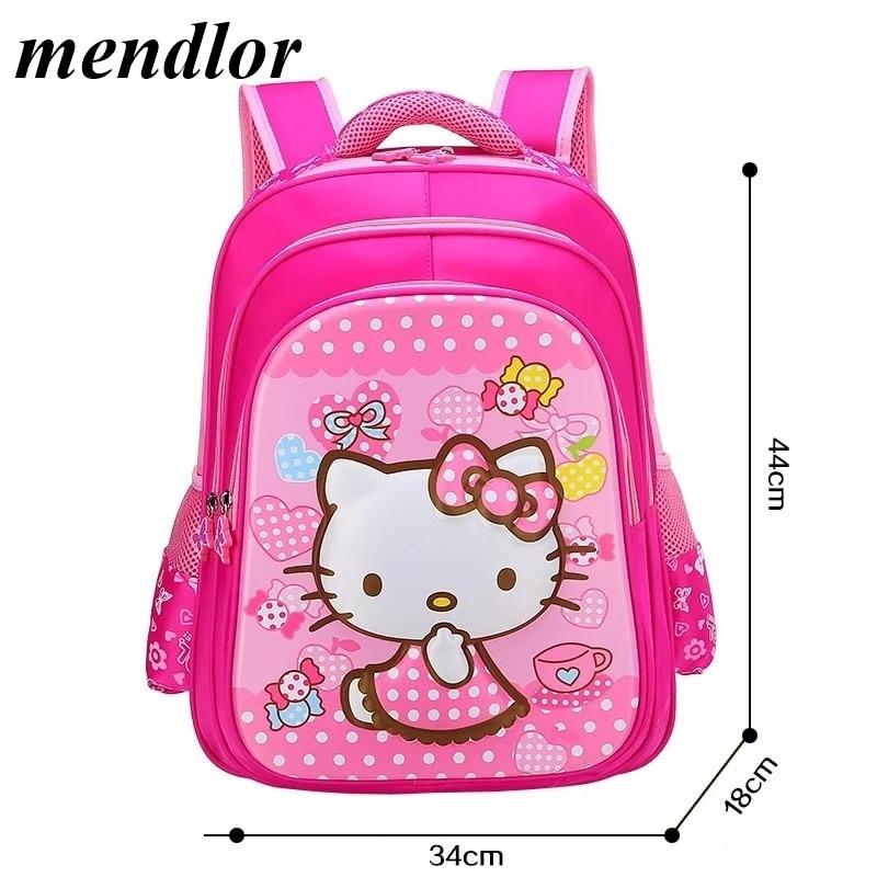 e64e80f125cd Children Hello Kitty School Bag For Girls Cartoon Backpack Bags School  Backpacks Schoolbag Bags Lovely Kids