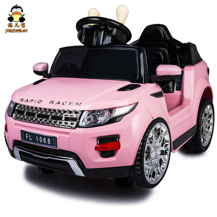 electric car for kids ride on with remote control and music landrove car baby children gift