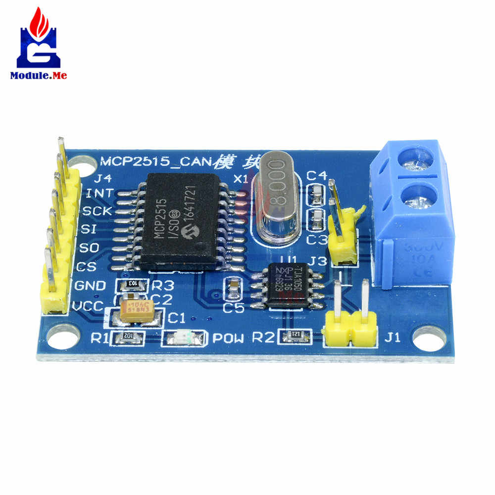 MCP2515 CAN Bus Module Driver Board TJA1050 Receiver For 51 MCU ARM  Controller DC 5V SPI Interface Control Resistors Data Trans