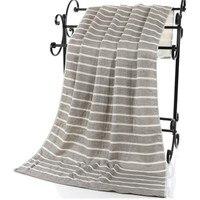 High Quality 100 Cotton 70 140cm Luxury Bath Towels Super Soft Stripes Adult Bath Towels