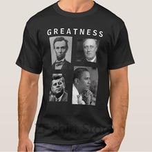 4b6d458eb7f5 Fashion Cool Men T shirt Women Funny tshirt obama greatness lincoln fdr jfk  obama shirts Short