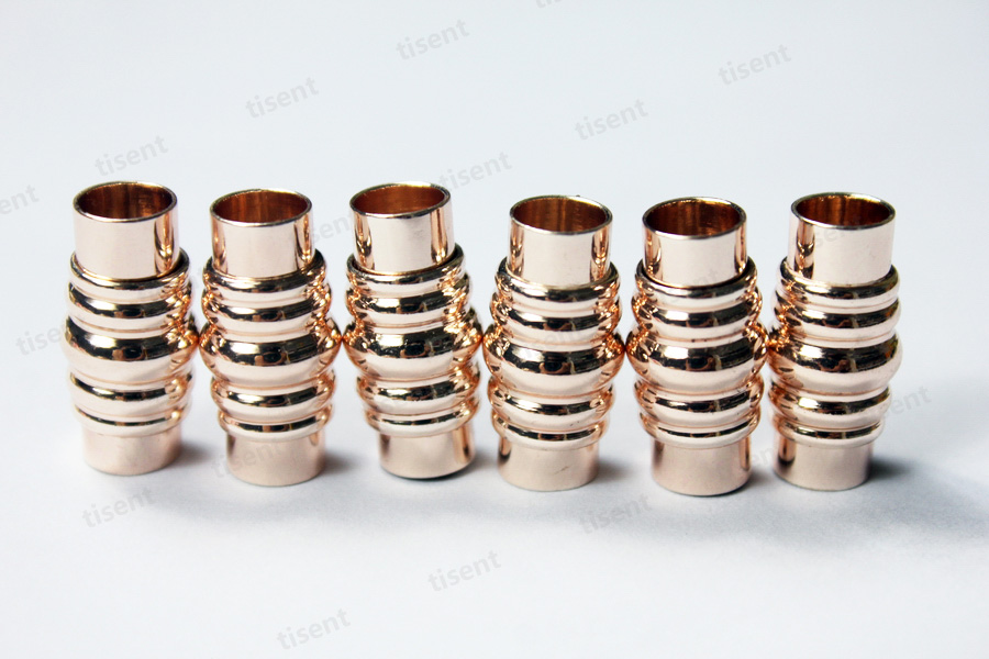 3 комплекта 6 мм Внутреннее отверстие розовое золото Магнитная застежка с безопасным бар