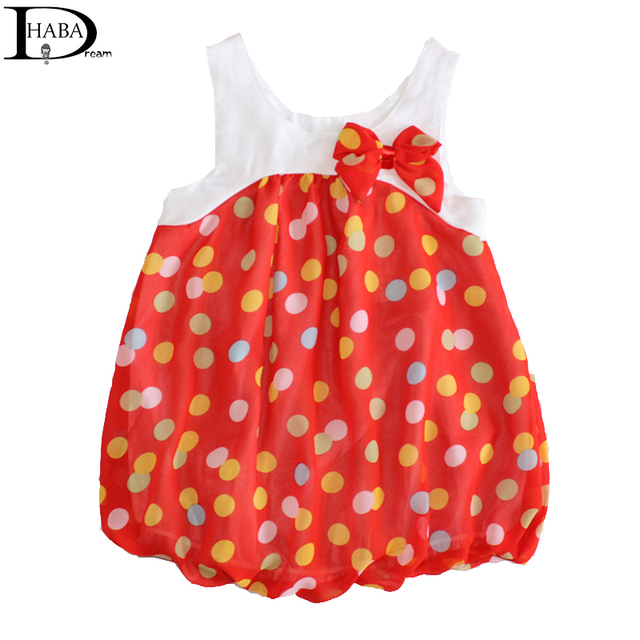 HABA Cute colors dots tutu dress, 0-36months baby girl dress, sleeveless summer dress,fashion cute sweet baby clothes HB0136