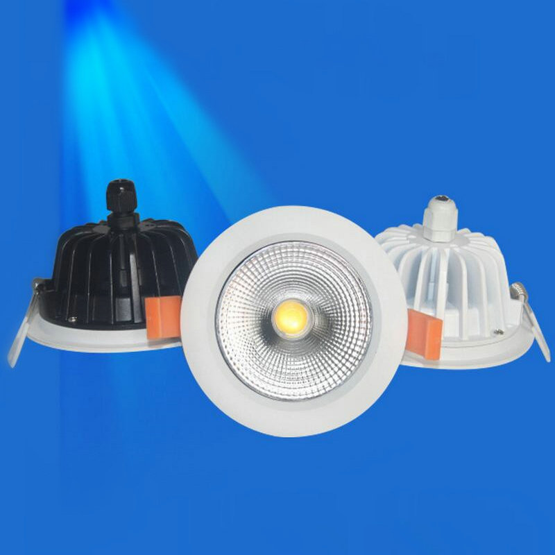 Waterproof IP65 Dimmable LED downlight 10W/15W COB LED Spot light LED ceiling lamp Free shipping new products listed recessed led downlight cob 30w 40w led spot light led ceiling lamp ac85v 245v free shipping