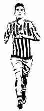 Free shipping diy wallpaper football palyer star dybala stickers sports wall decal PVC